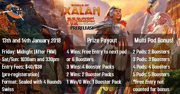 Rivals of Ixalan Pre-Release