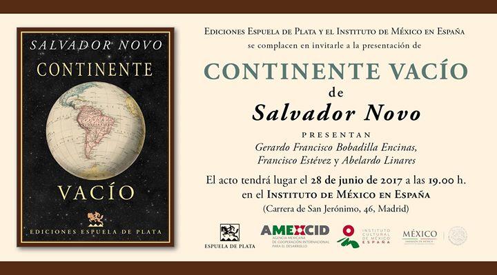 Presentacin de Continente Vaco de Salvador Novo