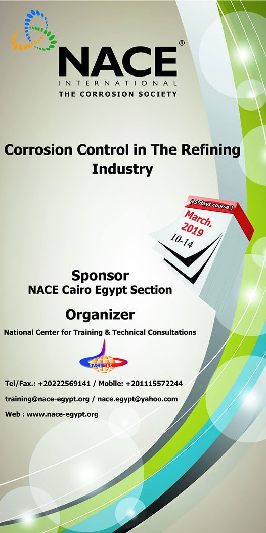 NACE Corrosion Control In The Refining Industry Training Course