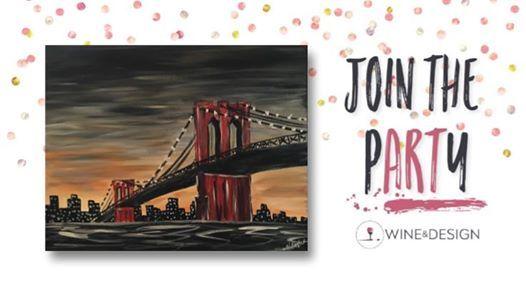 Paint Sip Brooklyn Bridge At Wine Design Clayton Nc14