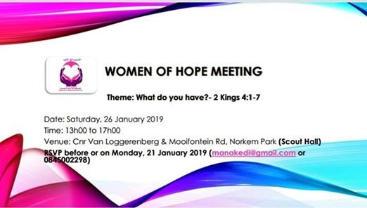 Women Of Hope Gathering