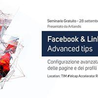 Seminario Facebook &amp LinkedIn Advanced Tips