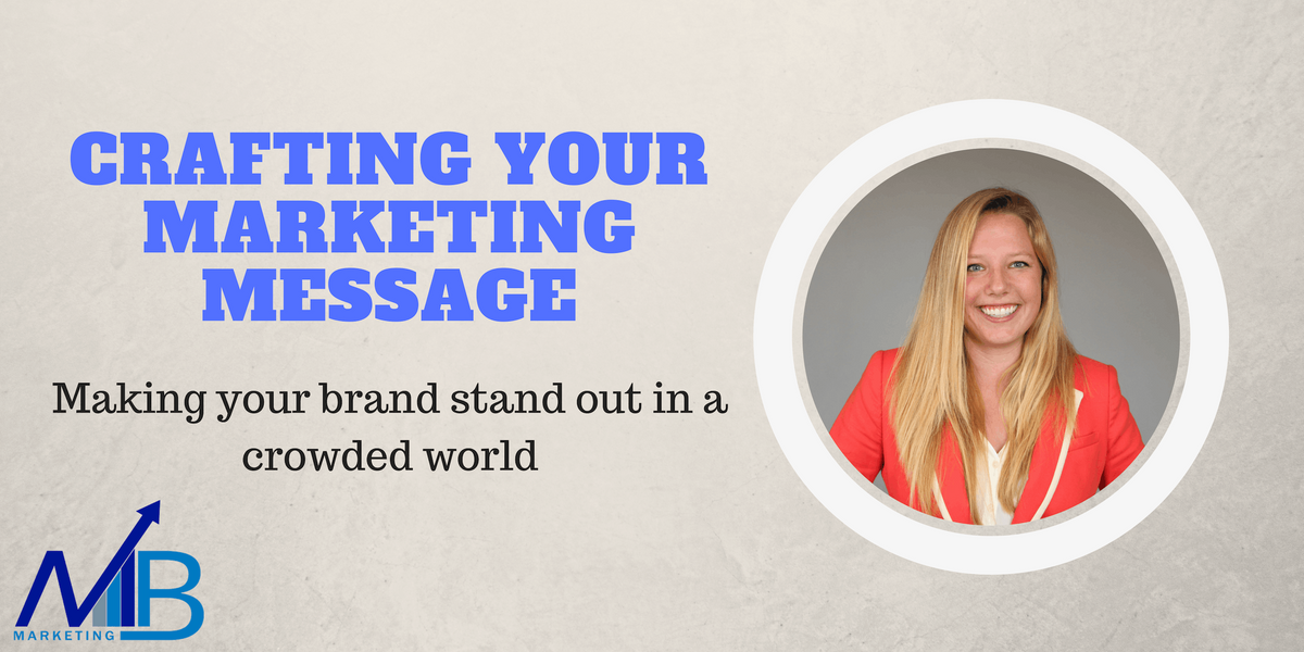 Crafting Your Marketing Message Making your brand stand out in a crowded world