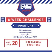 F45 Glenelg January 8 Week Challenge Open Day