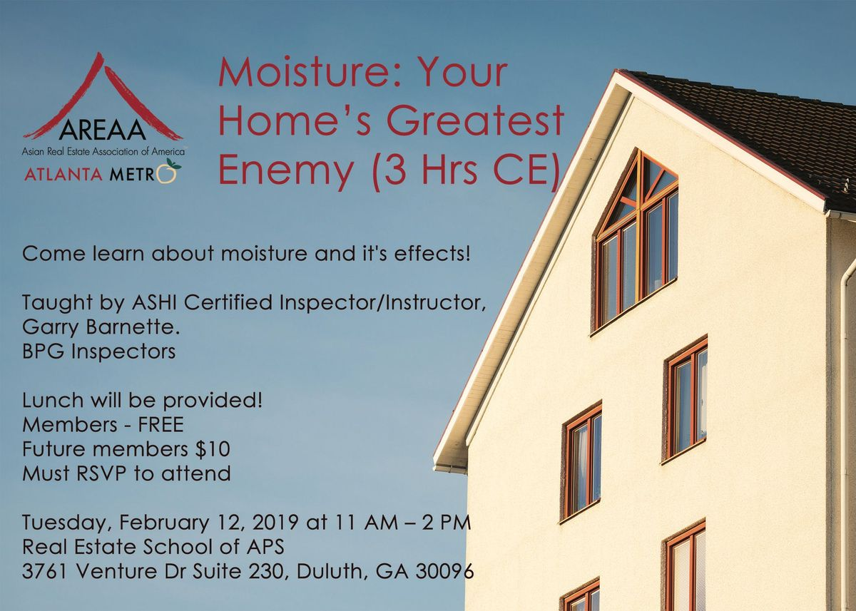 3hr CE Moisture Your Homes Greatest Enemy