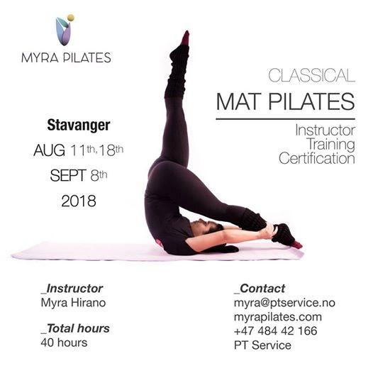 MAT PILATES Instructor Training Certification - Stavanger at PT ...