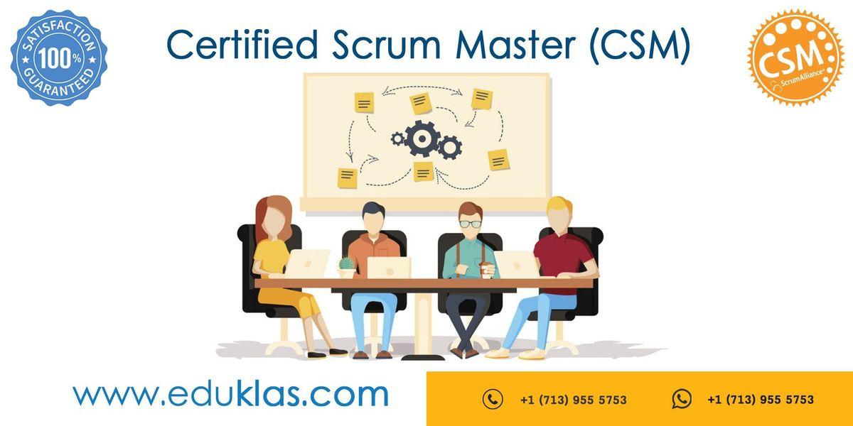 Scrum Master Certification  CSM Training  CSM Certification Workshop  Certified Scrum Master (CSM) Training in Dallas TX  Eduklas