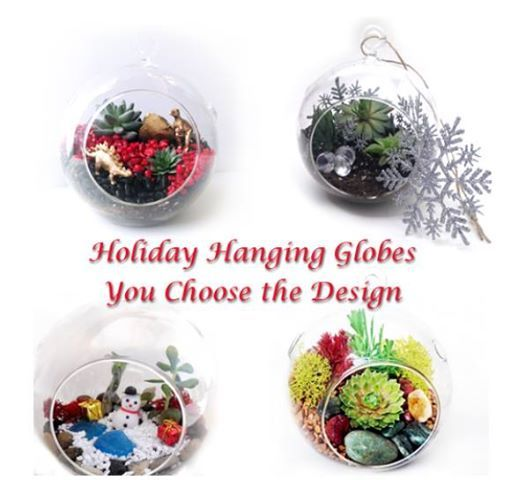 Holiday Hanging Globes - Your Choice of Design