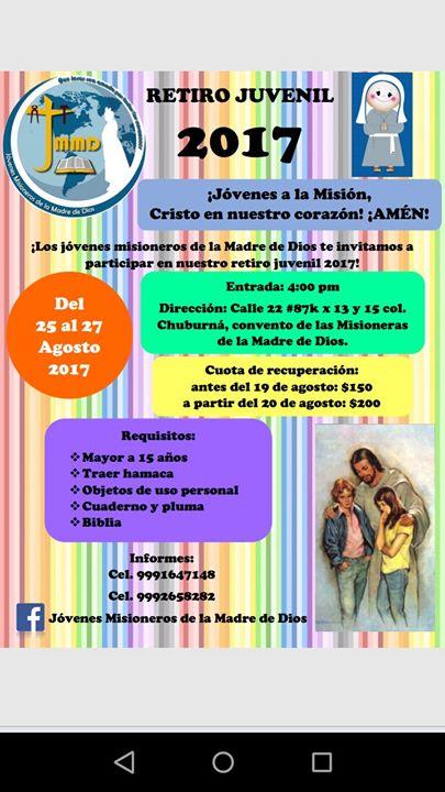 Retiro Juvenil Convento Mmd At Convento De Las Misioneras De