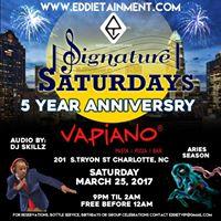 Signature Saturdays - Celebrates 5 Years Vapiano Dj Skillz