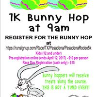 PLS&ampR 5k Fun run and Bunny Hop