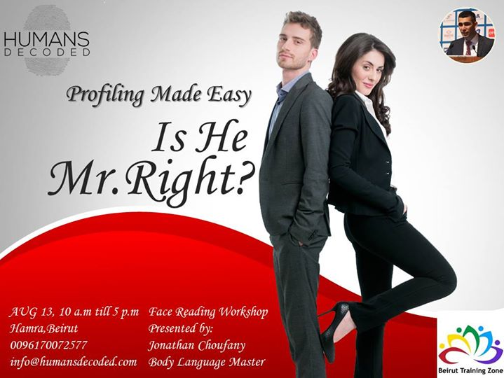 Profiling Made Easy Is He Mr.Right