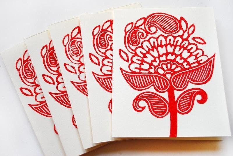 Block Print Handmade Cards with Ali Herrmann