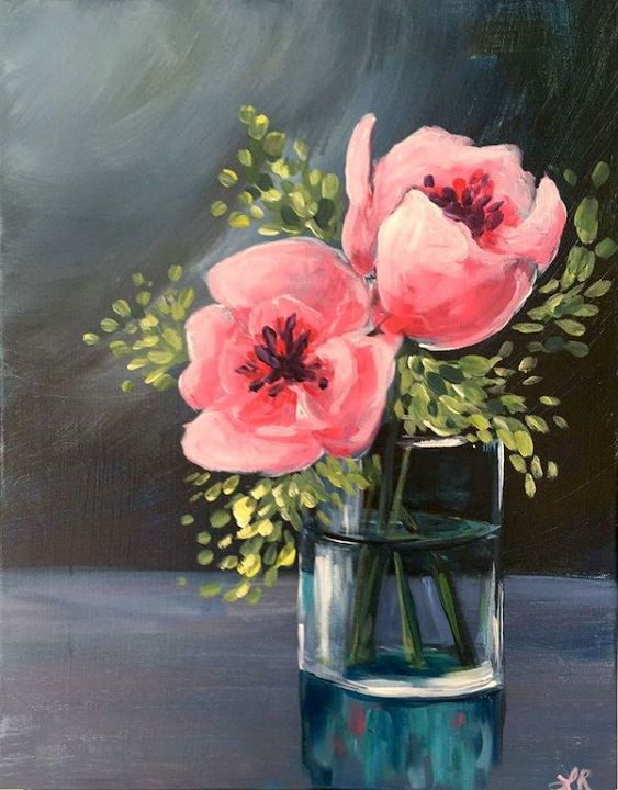 Posh poppies at painting with a twist houston tx for Painting with a twist san diego