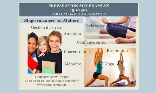 Preparation Aux Examens Ados-Yoga Et Relaxation-stage vacances