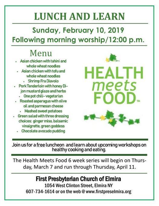 Lunch & Learn Health Meets Food