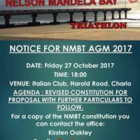 Nelson Mandela Bay Triathlon AGM