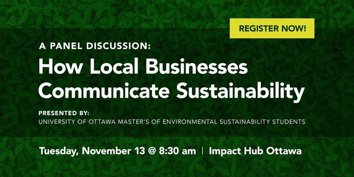How Local Businesses Communicate Sustainability - A Panel Discussion