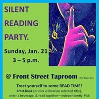Silent Reading Party at Front Street Taproom