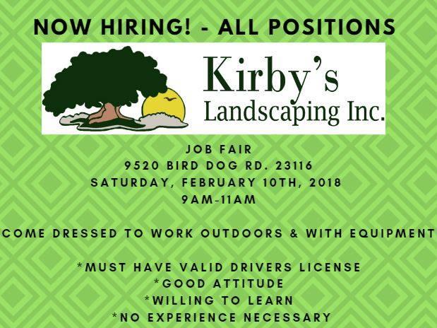 Kirbys Landscaping Job Fair Mechanicsville