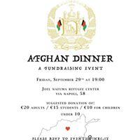 Afghan Fundraising Dinner