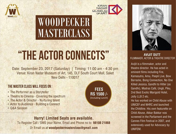 Woodpecker Masterclass - The Actor Connects