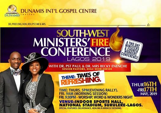 South-West Ministers & Church Workers Fire Conference Lagos