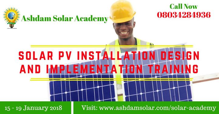 Solar Photovoltaic System Sizing and Installation Training