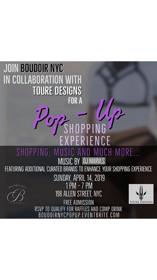 SIPPs at Boudoir NYC Toure Designs Pop Up Experience