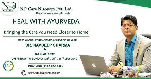 Meet Expert Ayurvedist Dr.Navdeep Sharma in Bangalore