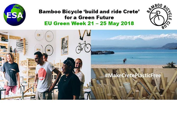 Bamboo Bicycle build and ride Crete
