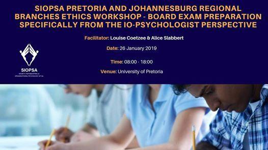 PTA & JHB Regional Branches Ethics Workshop: Board Exam Prep at
