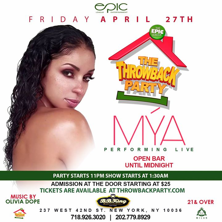 Mya Live At The Throwback Party Open Bar Until Midnight