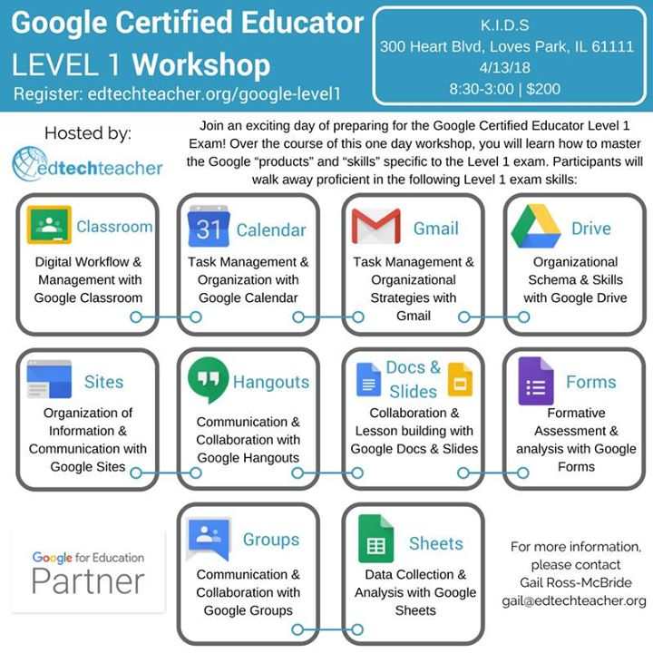 Google Certified Educator Level 1 Workshop At 300 Heart Blvd Loves