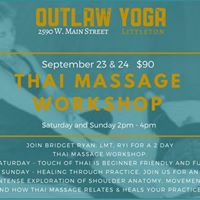 Thai Massage Workshop