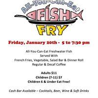 Friday fish fry at vfw post 1454 alma mi alma for Vfw fish fry