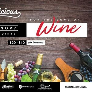 For The Love of Wine Featuring Wines by Huff Estates