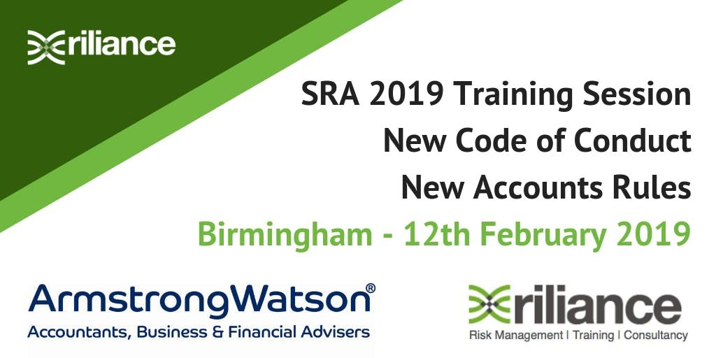 New SRA Code of Conduct & Accounts Rules Training Course - Birmingham