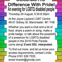 An evening for LGBTQ disabled people