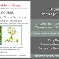Mindfulness Based Stress Reduction ( MBSR ) Starts Jan in Gorey