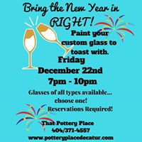 New Years Eve Glass Party