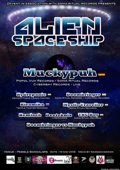 Alien Spaceship 1.0 with Muckypuh Live Pebble Bangalore