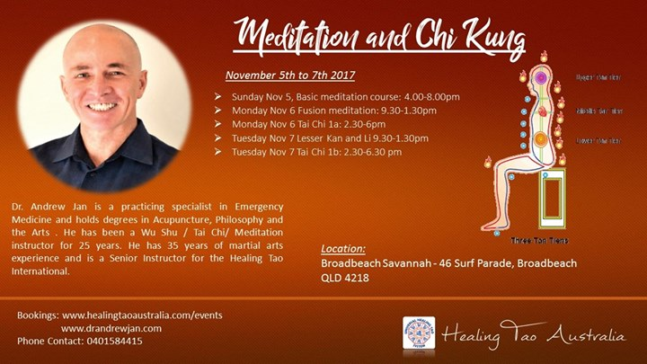 Taoist Meditation & Chi kung at Broadbeach Savannah Resort