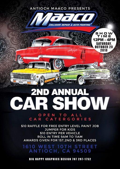 Maacos Nd Annual Car Show At Maaco Antioch CA California - Antioch ca car show 2018