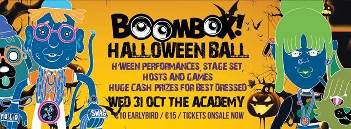 Boombox presents Academy Hween Ball 2018. Join to win bartab