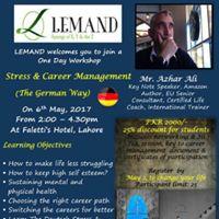 Stress &amp Career Management-The German Way