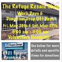 Work Days &amp Donation Drop Off