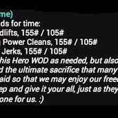 Saturday Hero WOD