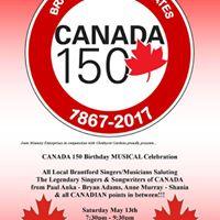 Brantford Celebrates Canada 150 Musical Showcase