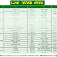 Love Parks Week Stanley Park 24th to 28th July. Book Now